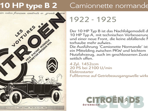 1922 - 1925   10HP type B2