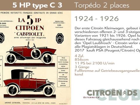 1924 - 1926   5HP type C, C2, C3