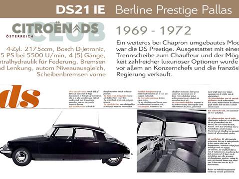1969 - 1972   DS21 IE - Berline Prestige Pallas