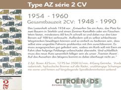 1954 - 1960 | Type AZ série 2 CV