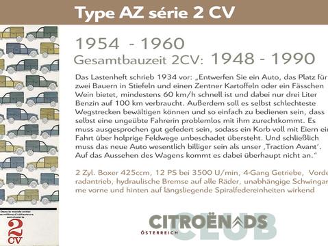 1954 - 1960   Type AZ série 2 CV