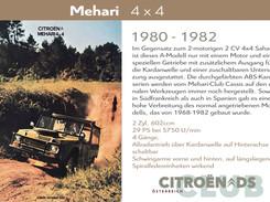 1980 - 1982  | Mehari 4 x 4
