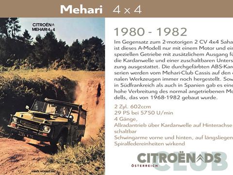 1980 - 1982    Mehari 4 x 4