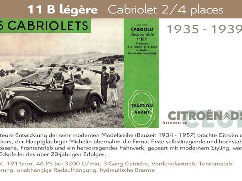 1935 - 1939   11B légère - Cabriolet
