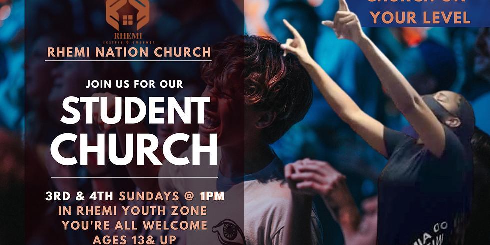 RHEMI Student Church Ages: 13 & up