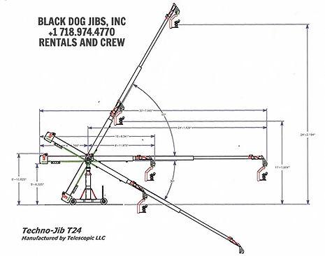 Movement diagram download of the Techno jib T24