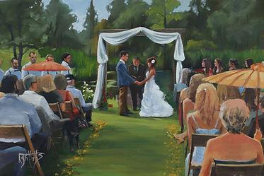 A Farm Wedding, live painting