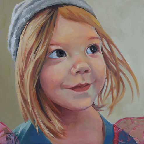 Portrait painting of a child