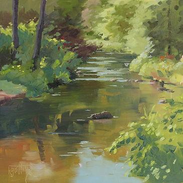 The Babbling Brook, en plein air