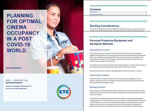 Optimise Cinema Occupancy Rates in a Post Covid-19 World - White Paper.