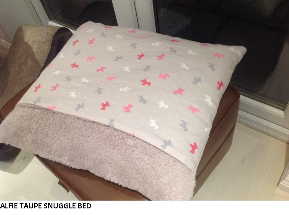 Alfie Taupe Snuggle Bed