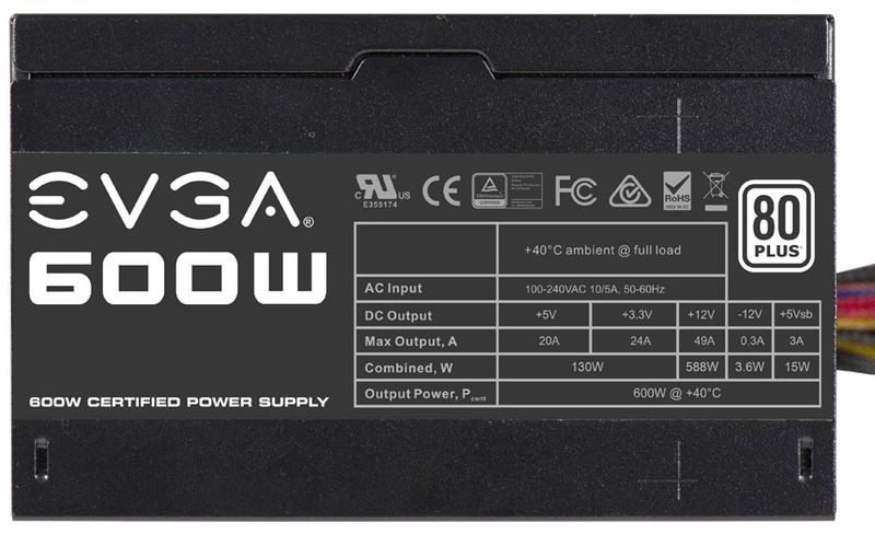 <SOLD> EVGA 600W Power Supply (USED)