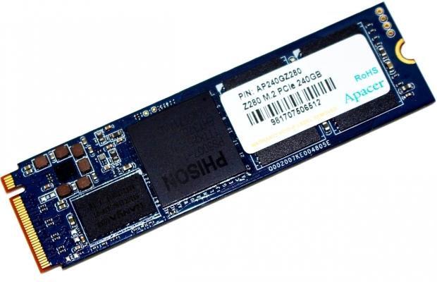 <SOLD> Apacer Z280 480GB M.2 NVMe PCIe SSD with RGB heatsink