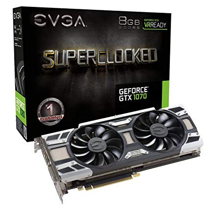 <SOLD> EVGA GeForce GTX 1070 8GB Superclocked Graphics Card (USED)