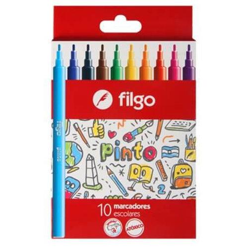Marcadores Fibras Filgo Pinto x 10 u.