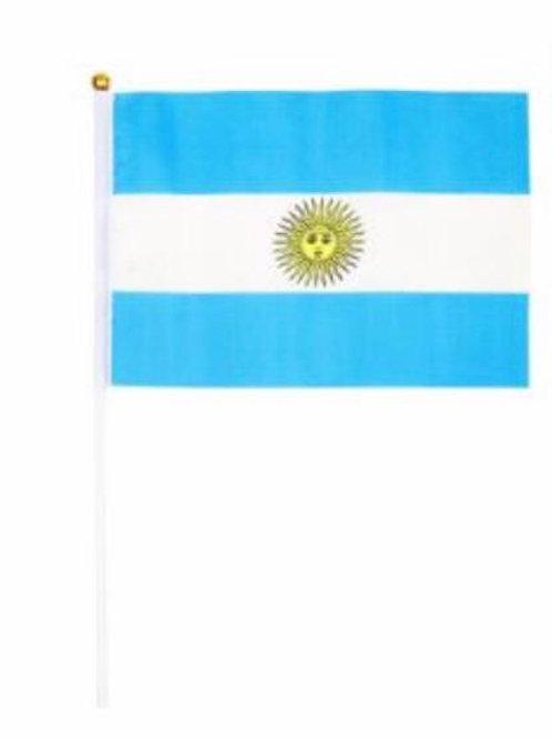 Bandera Argentina 14 x 20 cm x 12 u. banderita