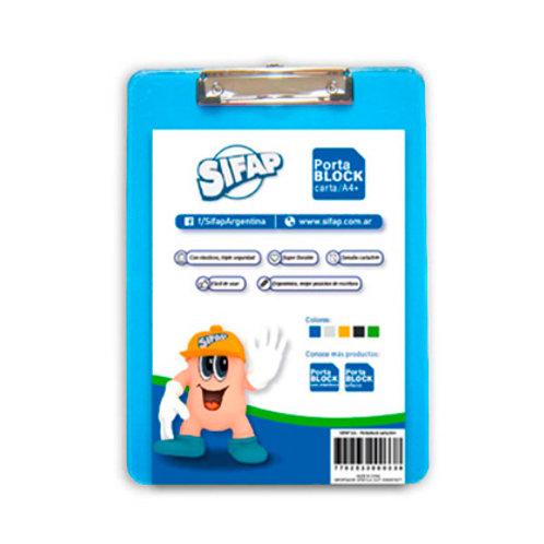 Portablock Sifap Acrilico A4 tabla con clip