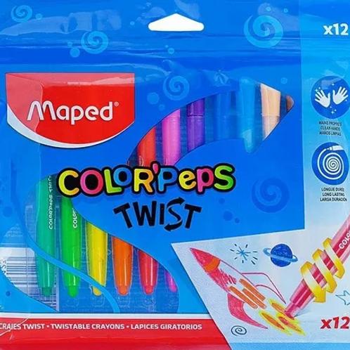 Crayones Maped Giratorio x 12 u.