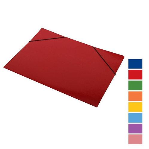 Carpeta Color c/elástico 3 solapas oficio x 10 unidades