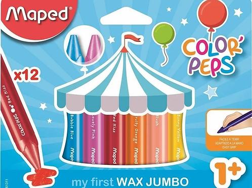 Crayones Maped Maxi Jumbo x 12 u.