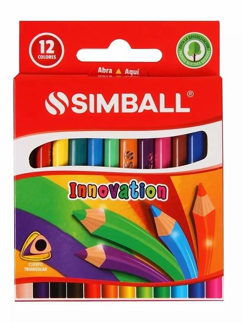 Lapices de Colores Simball cortos x 12 u.