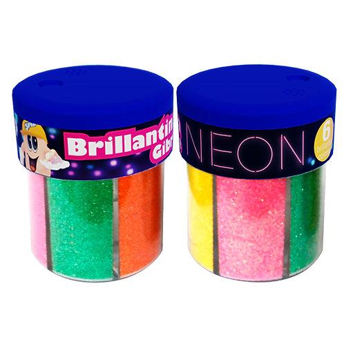 Brillantina Sifap Pote 6 colores Neon / fluo