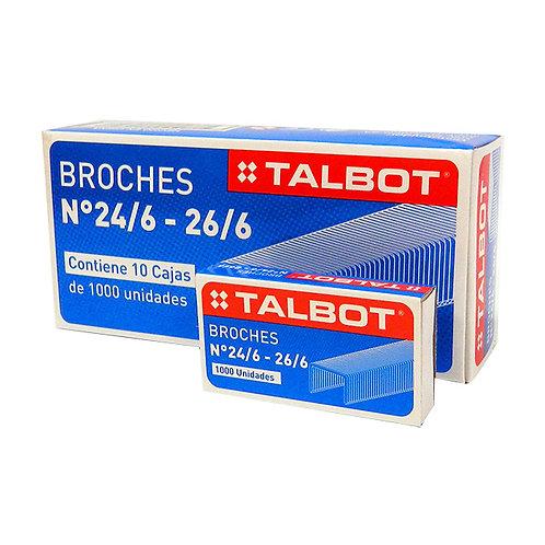 Broches Talbot N° 24/6 x 1000 u