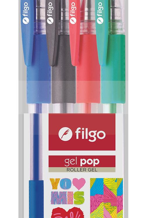 Roller Filgo gel x 4 colores estuche