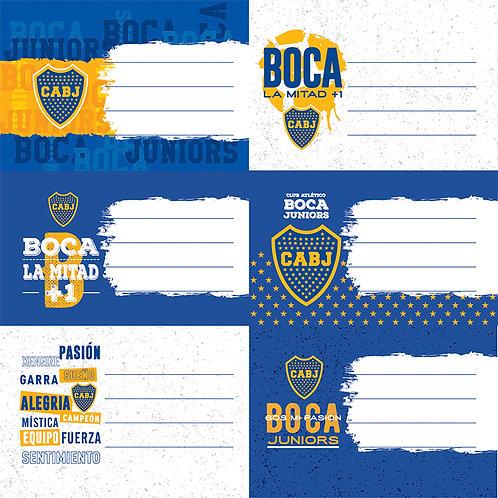 Etiquetas Boca Juniors Mooving x 12 u