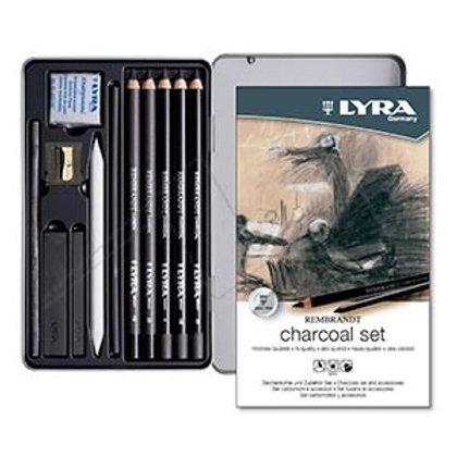 Set Arte Lyra Charcoal x 11 piezas