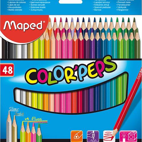 Lapices de Colores Maped x 48 u.