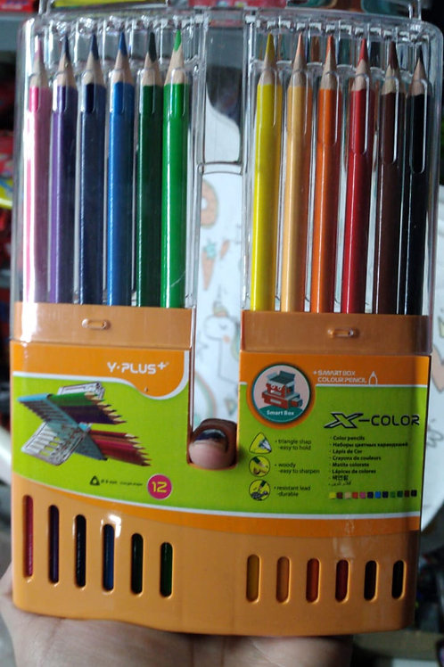 Lapices de Colores Simball color Xcolour 12 u. estuche rigido