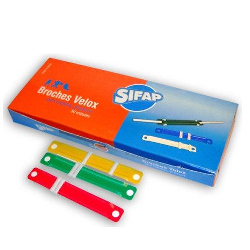 Broche Nepaco Sifap x 50 u plastico Velox