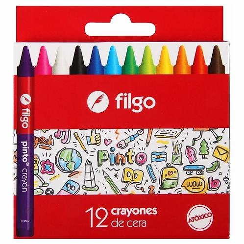 Crayones Filgo Pinto x 12 u.