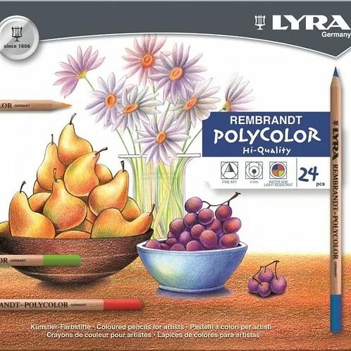 Lapices de Colores Polycolor lata x 24 u. Profesionales.