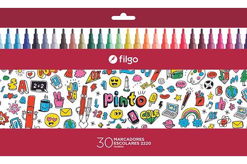 Marcadores Fibras Filgo Pinto x 30 u.