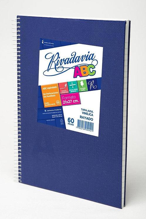 Cuaderno Rivadavia ABC con Espiral 60 hjs