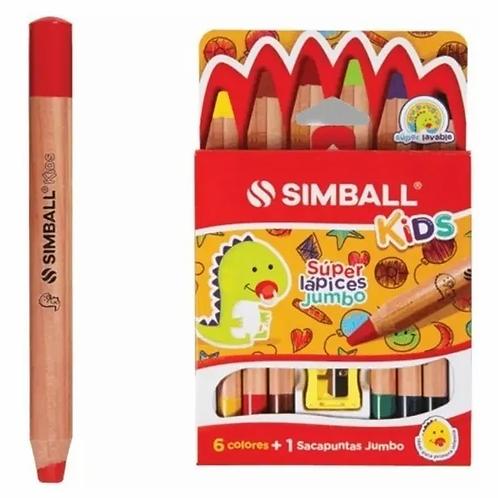 Lapices de Colores Simball Jumbo x 6 u.