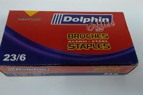 Broches Dolphin Nro 23/6 1000 broches  x 1 u. Heavy