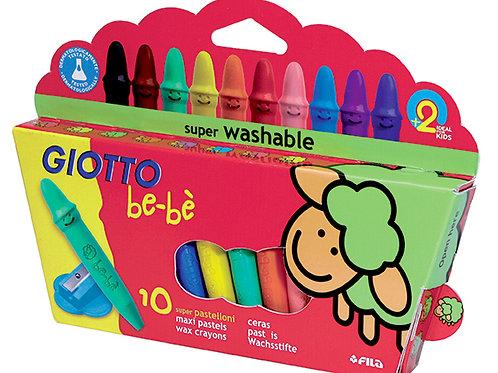 Crayones Giotto BEBE 10  colores + SACAPUNTAS