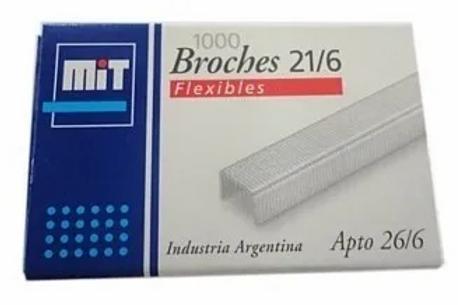 Broches Mit Nro 21/6-26/6  x 1000 u cajita