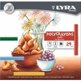 Pasteles a la tiza Lyra x 24 u