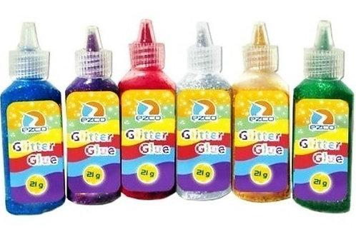 Adhesivo con Brillo Ezco 21 gr. glitter Pastel