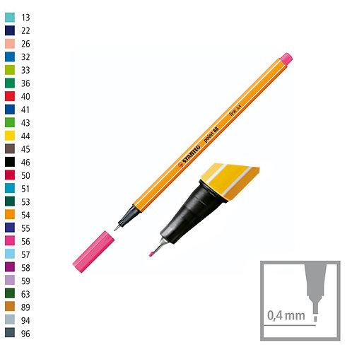 Microfibra Stabilo point88 x 1 u. NEGRA EXCELENTE