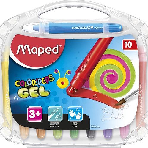 Crayones Maped Gel Retractil x 10