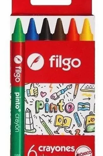 Crayones Filgo Pinto Jumbo x 6 u.