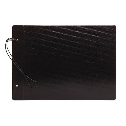 Carpeta N°5 Fibra negra 2 tapas