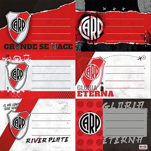 Etiquetas River Plate Mooving x 12 u