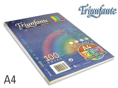 Resma Triunfante color A4 de 70 gr de 100 hjs