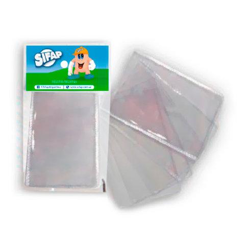 Bolsillo plastico Sifap para dni 65x95 mm x1 u